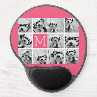 Monograma del personalizado del collage de la foto alfombrilla con gel