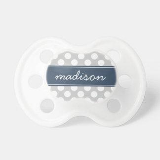 Monograma del personalizado del lunar de los chupetes para bebés