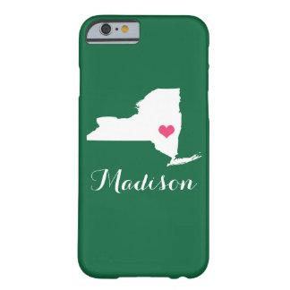 Monograma del personalizado del verde del corazón funda barely there iPhone 6