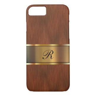 Monograma del profesional del negocio funda iPhone 7