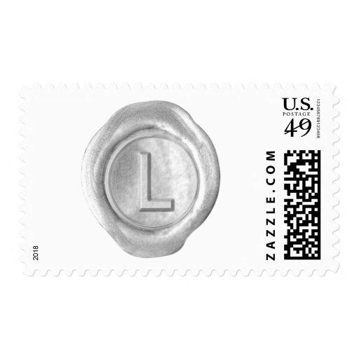 Monograma del sello de la cera - plata - estilo in