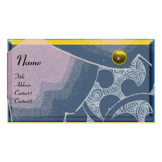 MONOGRAMA del TOPAZ de las ONDAS, amarillo del Tarjetas De Visita