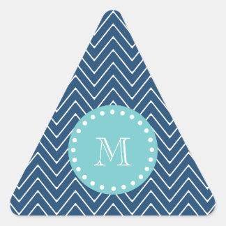 Monograma del trullo del modelo el | de Chevron de Pegatinas Triangulo Personalizadas