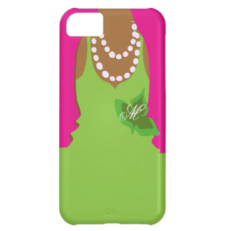 Monograma del verde del rosa de la vida de la herm