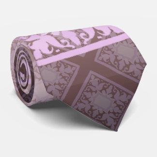 Monograma del vintage (rosa) corbata