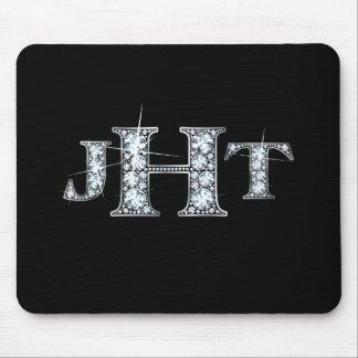 "Monograma ""diamante Bling"" Mousepad de JTH Tapete De Ratones"