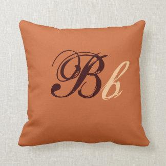 Monograma doble de B en Brown y el beige I Cojines