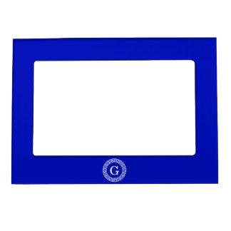 Monograma dominante griego de la inicial del marco marcos magneticos de fotos