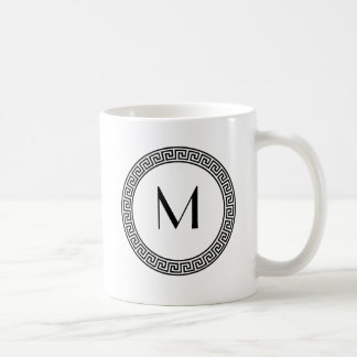 Monograma dominante griego del diseño taza clásica
