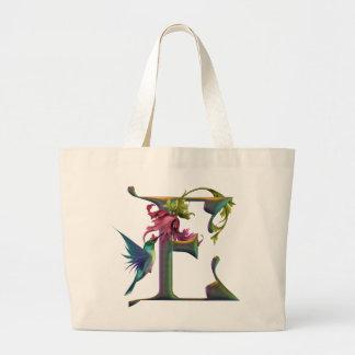 Monograma E del colibrí Bolsa De Mano