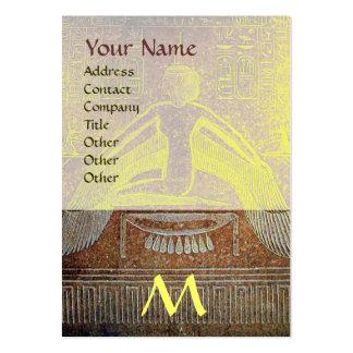 MONOGRAMA EGIPCIO de ISIS, amarillo blanco marrón Tarjetas De Visita Grandes