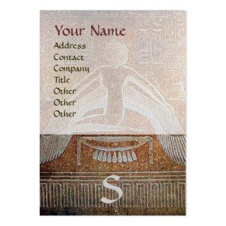 MONOGRAMA EGIPCIO de ISIS, blanco marrón brillante Tarjetas De Visita Grandes