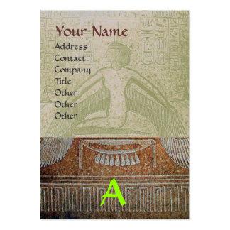MONOGRAMA EGIPCIO de ISIS, gris verde blanco Tarjetas De Visita Grandes