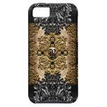 Monograma elegante barroco de lámina de Enghel iPhone 5 Case-Mate Carcasas