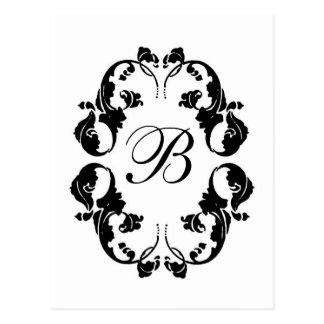Monograma elegante de la novia postal