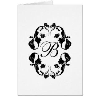 Monograma elegante de la novia tarjeta de felicitación