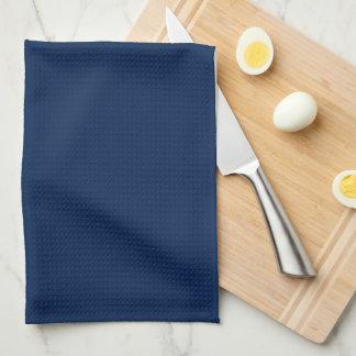 Monograma elegante de los azules marinos toallas de cocina