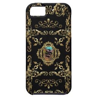 Monograma elegante de Shellbrooked iPhone 5 Protectores
