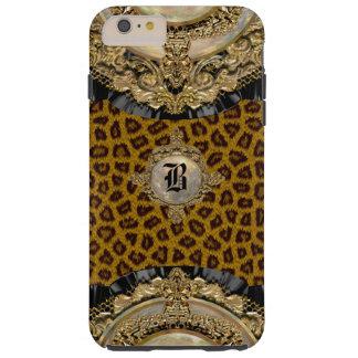 Monograma elegante de Wildroyce 6/6s del leopardo Funda De iPhone 6 Plus Tough