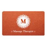 Monograma elegante del cordón del terapeuta del ma tarjetas de visita