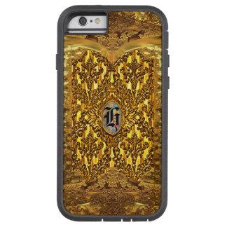 Monograma elegante del damasco de la antorcha funda tough xtreme iPhone 6