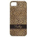 monograma elegante del estampado leopardo de #2 iP iPhone 5 Case-Mate Fundas