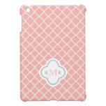 Monograma elegante del modelo del rosa de color sa iPad mini coberturas