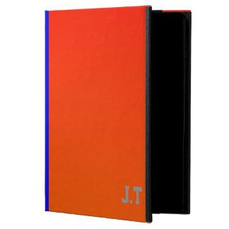 Monograma elegante del naranja y del azul