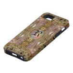 Monograma elegante del Victorian de la corte del m iPhone 5 Protectores