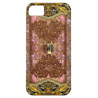 Monograma elegante del Victorian de Vermothe iPhone 5 Fundas