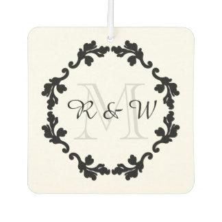 Monograma elegante el | del boda apenas casado