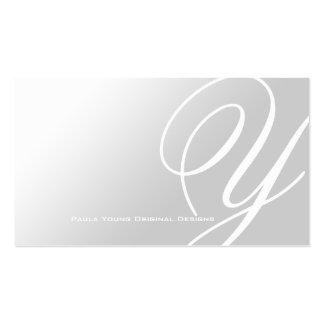 Monograma elegante moderno A Tarjetas Personales