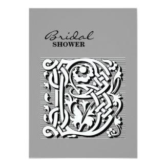 """monograma elegante moderno de la letra de lujo (b) invitación 4.5"""" x 6.25"""""""