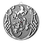 monograma elegante moderno de la letra de lujo U Tablero De Dardos
