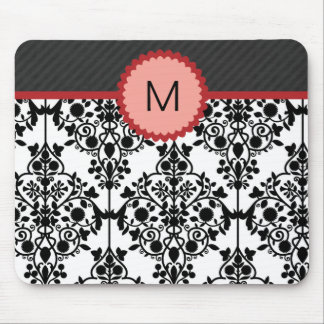 Monograma elegante Mousepad