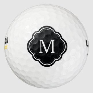 Monograma elegante personalizado del   pack de pelotas de golf