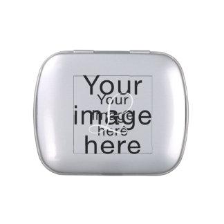 Monograma en blanco de plantilla personalizada latas de caramelos