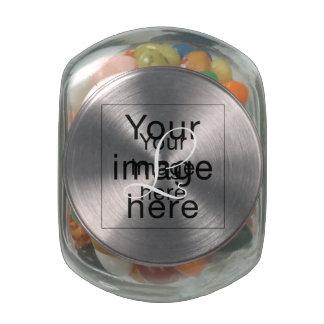 Monograma en blanco de plantilla personalizada jarras de cristal