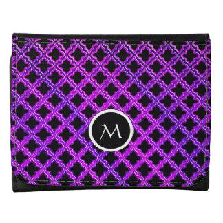 Monograma en la cartera púrpura negra del modelo d
