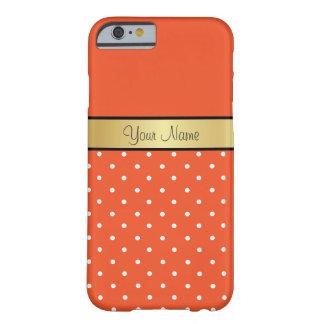 Monograma en tango de la mandarina, lunares funda de iPhone 6 barely there