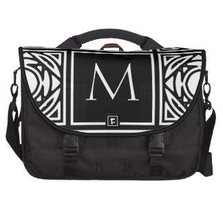 Monograma enmarcado bolsas para portatil