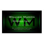 Monograma enmarcado negro y verde - tarjeta de vis