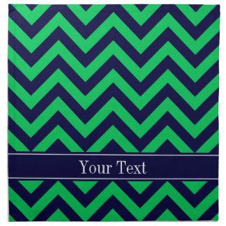 Monograma esmeralda del nombre de los azules servilletas de papel