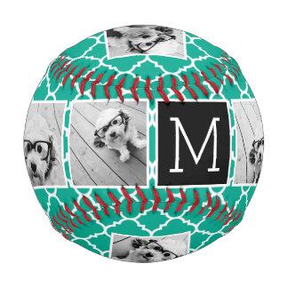 Monograma esmeralda y negro del collage de la foto