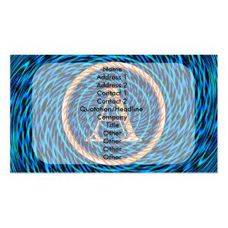 Monograma espiral de marea azul A Tarjetas De Visita