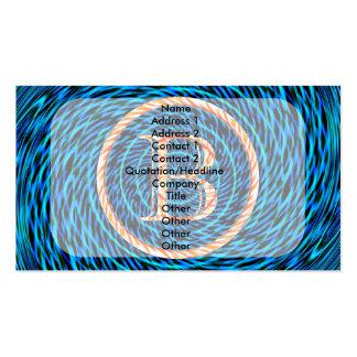 Monograma espiral de marea azul B Tarjetas De Visita