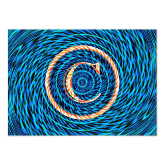 Monograma espiral de marea azul C Anuncios