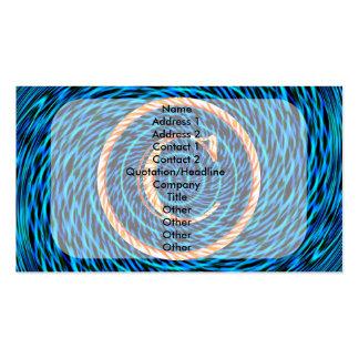 Monograma espiral de marea azul C Tarjetas De Visita