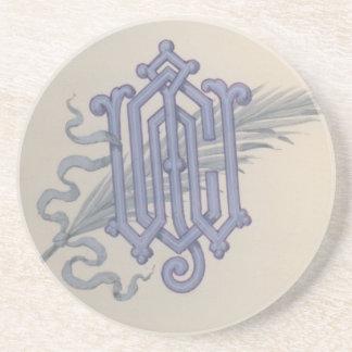 Monograma estilizado de JCW por Tiffany & Company Posavasos Cerveza