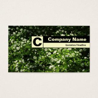 Monograma etiquetado borde - ajo salvaje tarjeta de negocios